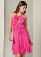 macrame detail dress