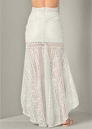 Back View Lace High Low Skirt
