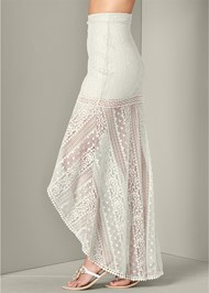 Alternate View Lace High Low Skirt