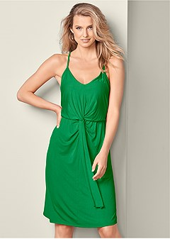 knot detail casual dress