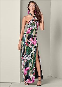 ffe613d51bd tropical print maxi dress
