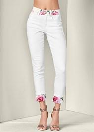 Front View Floral Detail Pants