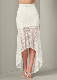 Front View Lace High Low Skirt