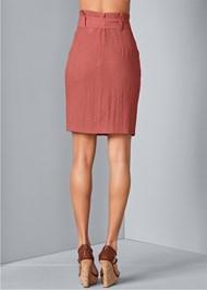 Back View Knee Length Linen Skirt