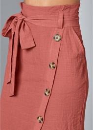 Alternate View Knee Length Linen Skirt