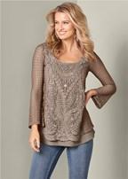 crochet detail top
