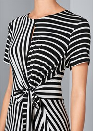 Alternate View Striped Faux Wrap Dress