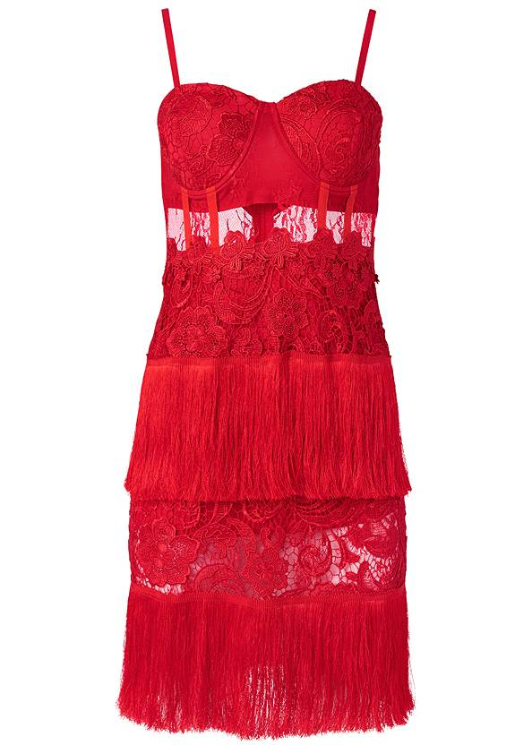 Ghost  view Fringe Detail Lace Dress
