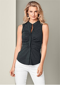 ruched detail blouse