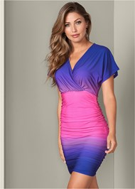 Front View Ruched Detail Dress