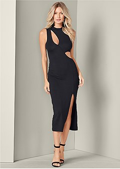 ffe6bcf58a64b cut out detail dress