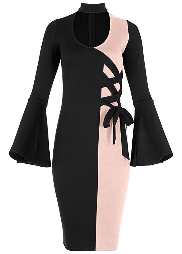 Alternate View Lace Up Detail Dress