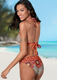 Back view Flirty Banded Bikini Bottom