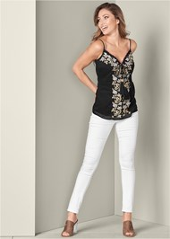Alternate View Embroidered Tassel Top