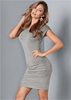ruched tshirt dress