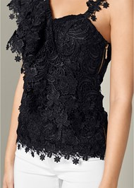 Alternate View Ruffle Detail Lace Top