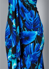 Alternate View Drape Detail Print Dress