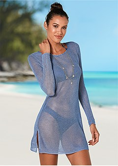open back tunic cover-up