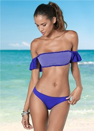 Front view Smocked Bandeau Top