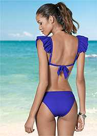 Back view Smocked Bandeau Top