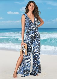 Slit Leg Jumpsuit Cover-Up