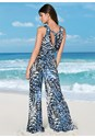 Back View Slit Leg Jumpsuit Cover-Up