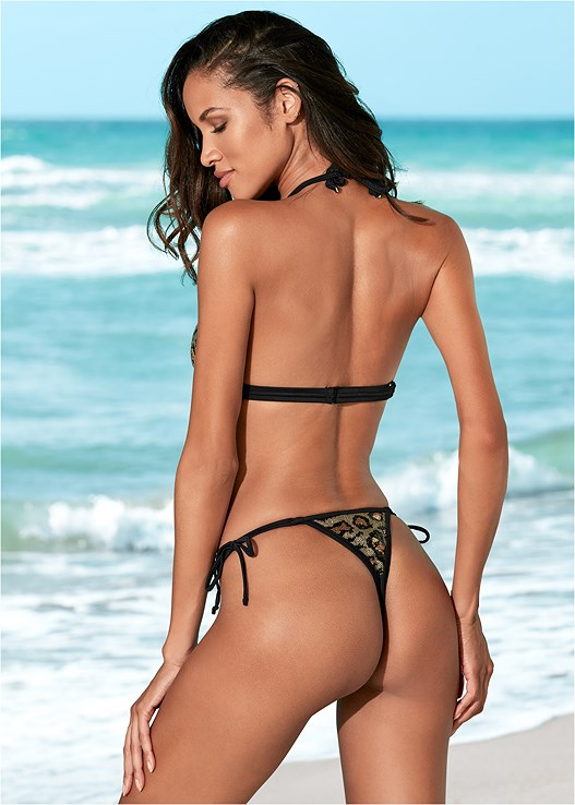 SEQUIN THONG BOTTOM,ENHANCER PUSH UP TRIANGLE