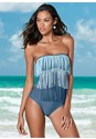 Front view Slimming Fringe One-Piece