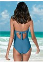 Back view Slimming Fringe One-Piece
