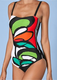 Alternate View Graphic Print One-Piece