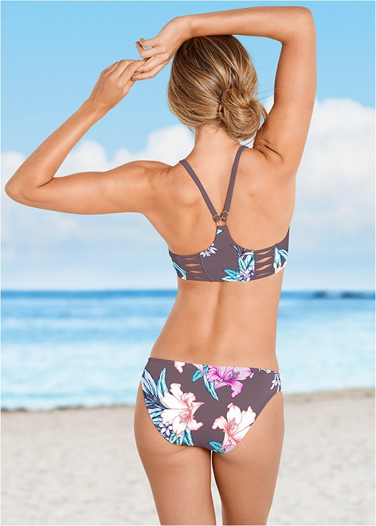 HIGH NECK SPORT BIKINI TOP,LOW RISE BIKINI BOTTOM