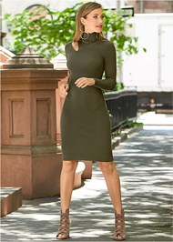 Alternate View Cut Out Sweater Dress