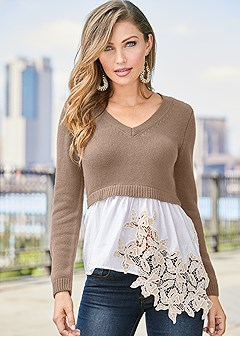 applique detail sweater