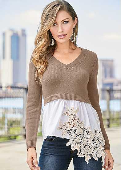 Applique Detail Sweater