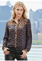 Front View Leopard Blouse
