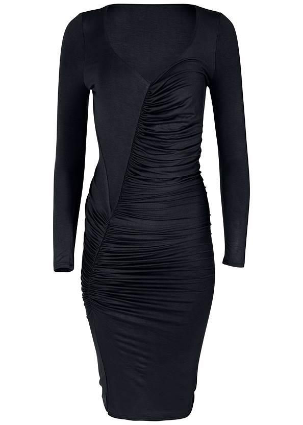 Alternate View Ruched Detail Midi Dress