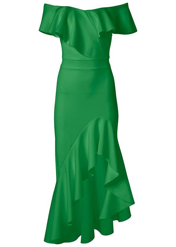 Alternate View High Low Ruffle Dress