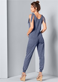Back View Tie Shoulder Jumpsuit
