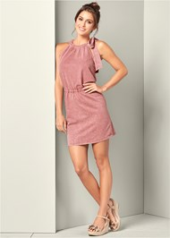 Tie Shoulder Lounge Dress