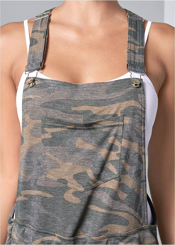 Alternate View French Terry  Drawstring Short Overalls