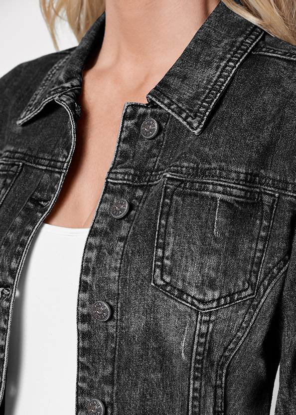 Detail front view Jean Jacket