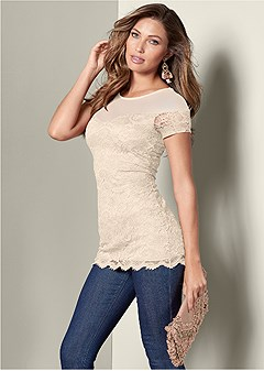 sweetheart lace top