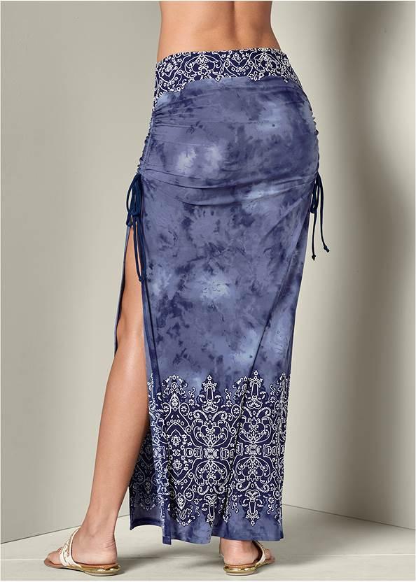 Back View Ruching Detail Maxi Skirt