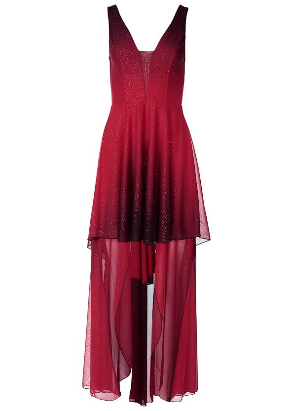 Alternate View Ombre High Low Dress