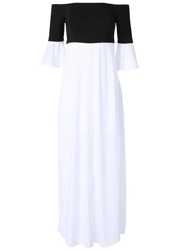 Alternate View Mixed Media Maxi Dress