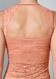 Alternate View Mesh Inset Lace Top