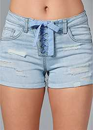 Alternate View Lace Up Front Shorts
