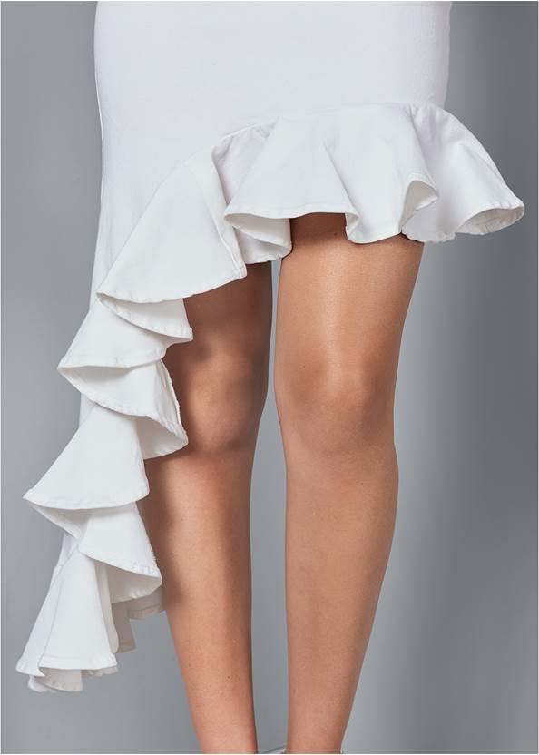 Alternate View Ruffle Jean Skirt