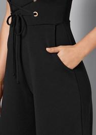 Alternate View Lace Up Culotte Jumpsuit