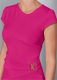 Alternate View Trim Detail Bodycon Dress